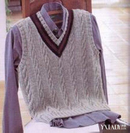 【图】盘点男孩毛衣背心编织图