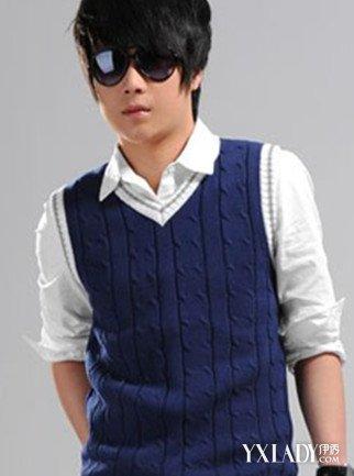 【图】男毛衣背心编织图片