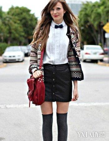 街拍紧身包臀超短裙搭配图片欣赏 四款美搭凸显你的高挑身材图片