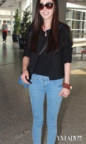 刘亦菲穿紧身牛仔裤现身 看时尚女星如何演绎紧身牛仔裤