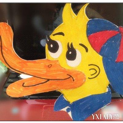 手工制作小动物头饰鸭子