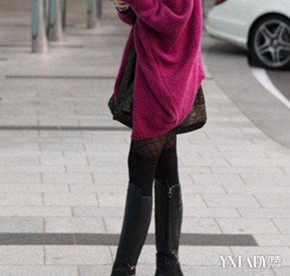 冬季过膝长靴搭配图片LOOK 1黑色过膝长靴最百搭而且显瘦,这也是