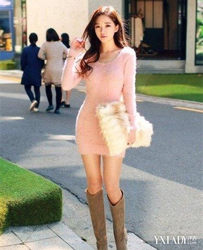 【图】包臀裙长靴搭配图片欣赏