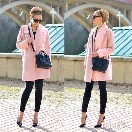 粉色 风衣 技巧