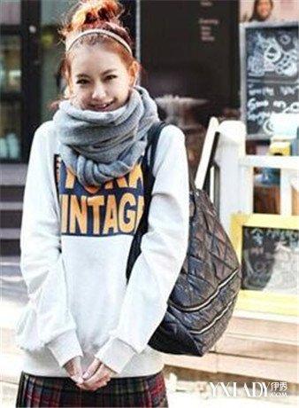 韩国方巾的系法图解展示 教你系4款韩式风格