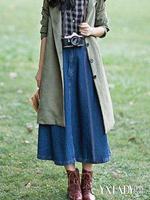 【图】冬季牛仔裙搭配大揭秘 牛仔背带裙如何搭配全身