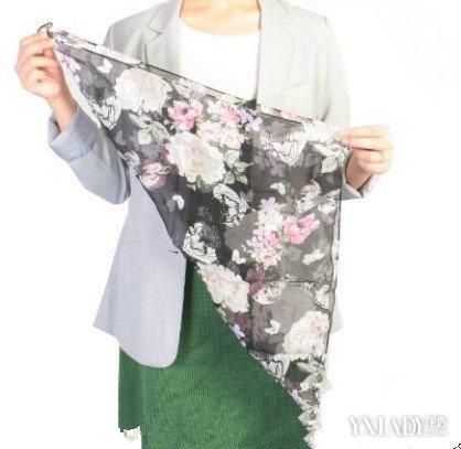 【图】各种正方形围巾的系法图解