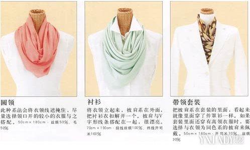 【图】正方形围巾的各种围法图解