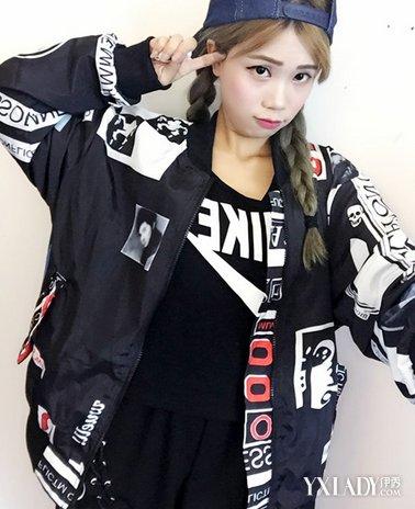 风格搭配 / 正文  黑色宽松外套将字母,涂鸦和印花等嘻哈风格必备的