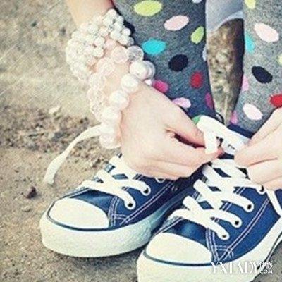 图女帆布鞋踩踏型汇集