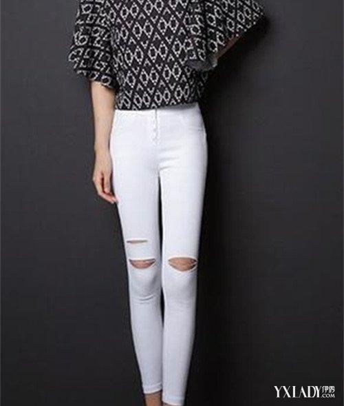 鞋子与服装的搭配_【图】白裤子搭配图片素材欣赏 教你搭配上衣和鞋子_白裤子_伊 ...