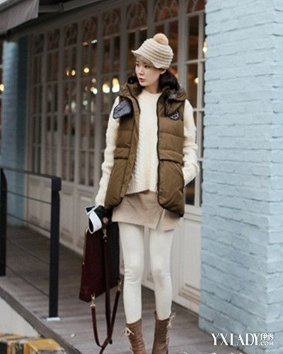羽绒马甲搭配图片女生分享 冬季混搭必备保暖又好搭