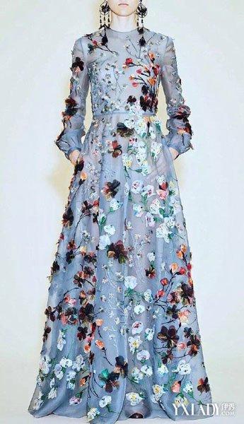【图】valentino2016蕾丝花边连衣裙性感显柔美