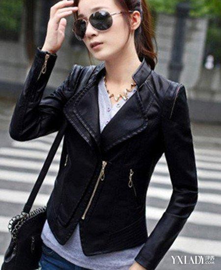 欣赏短款毛领皮衣搭配图片 穿出各种时髦造型