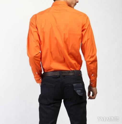 【图】男士橙色衬衫配什么外套更有魅力 衬衫