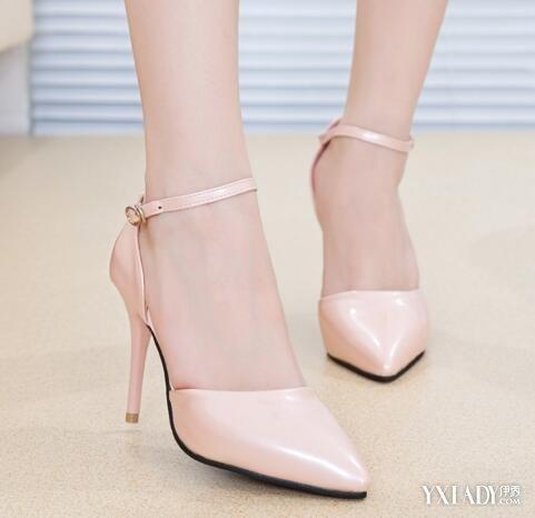 高跟鞋超高细跟一字搭扣单鞋图片 高跟鞋搭配技巧