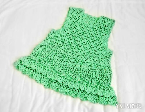 【图】宝宝毛线裙子编织法图解 8步教你学会编织可爱背心裙