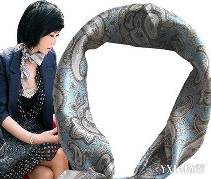 韩式小方巾的系法图解展示 优雅绽放OL精彩