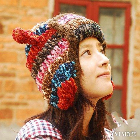 【图】女士毛线帽子编织花样的方法