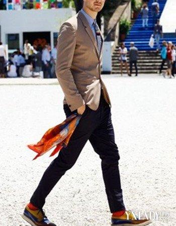 【图】男士棕色布洛克鞋搭配展示 正式休闲它都赢