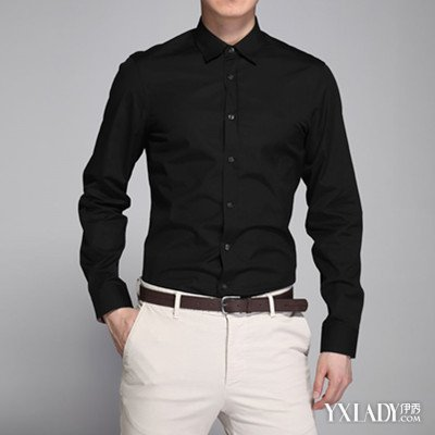 黑色上衣搭配什么裤子男生图片展示 男士黑衬衫搭配什么裤子