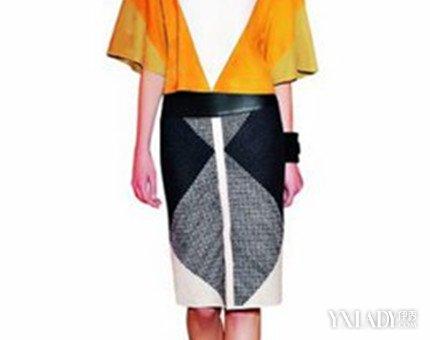 【图】结合点线面体服装款式图