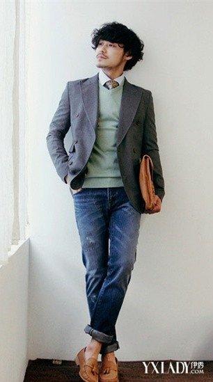 曝男士休闲西装搭配图片 学会3个穿搭做成功魅力男人图片