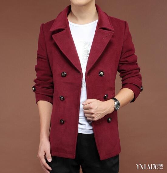 【图】男士酒红色大衣配什么裤子 教你如何穿
