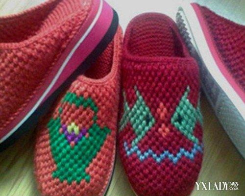 【图】详解怎样打毛线拖鞋