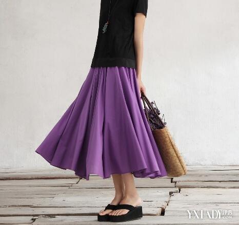 紫色半裙配什么上衣_【图】浅紫色短裙配什么上衣 几个技巧教你轻松搭配