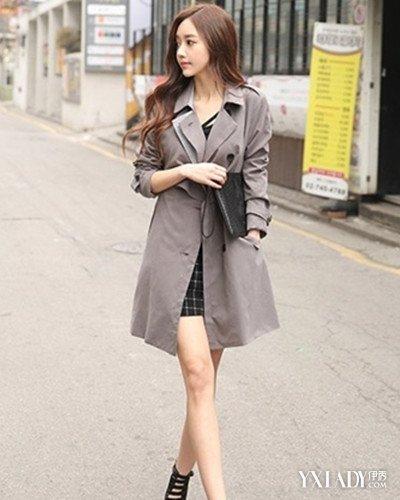 女长款风衣外套搭配展示 彰显出优雅的女人味