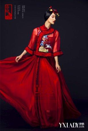 中式礼服的东方华韵,茧迹设计的经典中国风