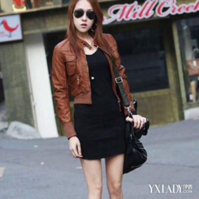 棕色皮衣搭配图片大全 做一个帅气女士必备的搭配