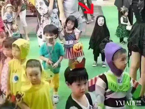 幼儿园万圣节化妆舞会|小朋友万圣节扮成无脸男|小