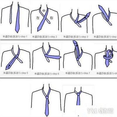【图】学生校服领带打法图解 解决上学不会打红领巾的