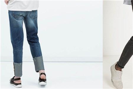 牛仔裤裤脚折法 这样折好看又时尚
