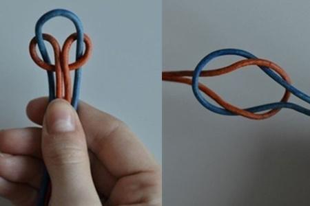 一根绳编法图解教你两种简单的结 diy自己喜欢的手链