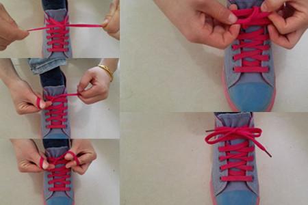 鞋带蝴蝶结的系法图解 高效简单又好学
