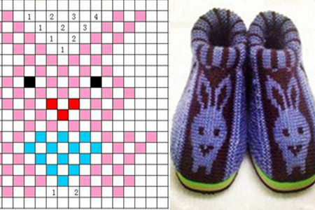 织毛线棉鞋花样图纸 北方的冬天不再冷
