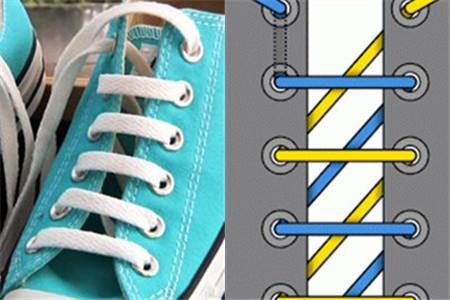 【图】鞋带的花样系法 吸引眼球从脚开始_鞋带_伊秀网
