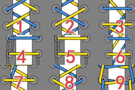 鞋带的24种系法图解 人人必备的小技巧