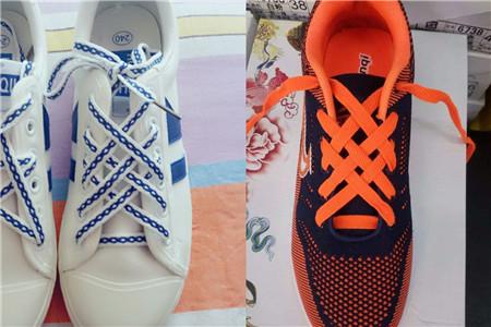 第三,重复第一,第二步骤,一直到鞋带对称为止.