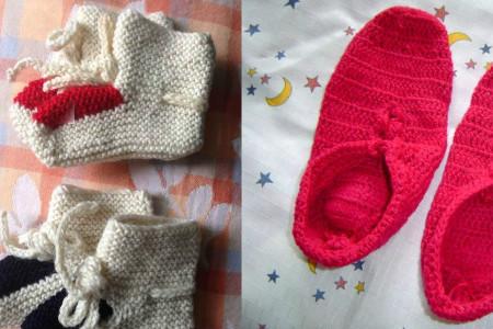 袜套的织法图解 八片编织结合法