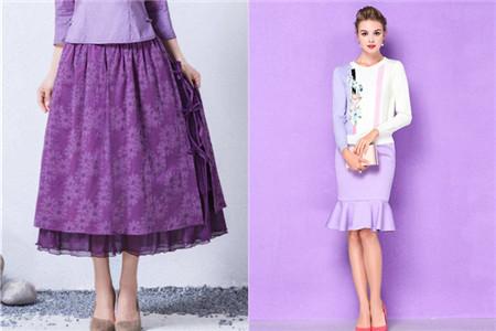 紫色半裙配什么上衣_紫色半身裙配什么上衣 女性的魅力需要绽放
