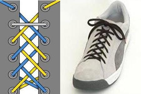 鞋带的24种系法图解 这些你都了解吗