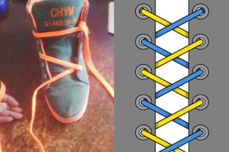 鞋带的花样系法 让你的鞋子更有时尚之感
