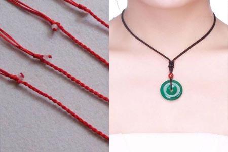 项链绳的编法能调松紧 轻松为外表加分