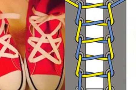 鞋带的花样系法 只要几招就能带你玩转时尚图片