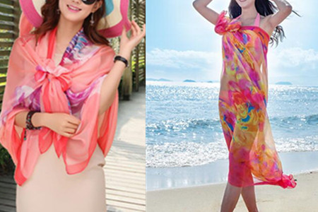 夏季丝巾披肩的系法图解 既防晒又洋气