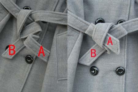 大衣蝴蝶结的系法图解 教你其中的小窍门